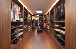 walnut fitted dressing room