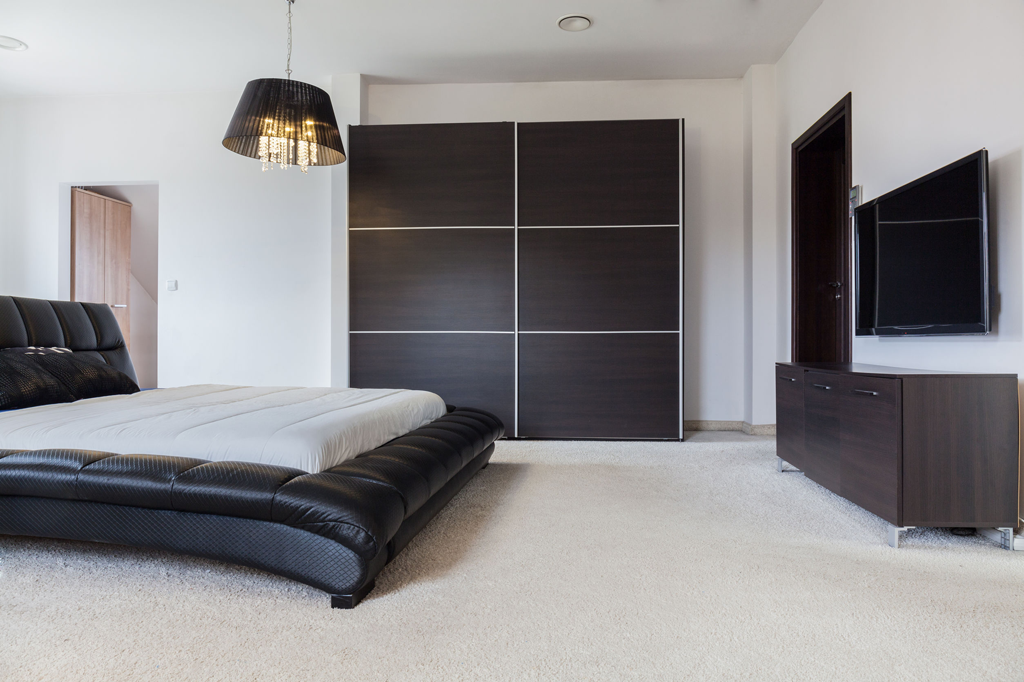new look interiors contemporary bedroom wooden fitted wardrobes